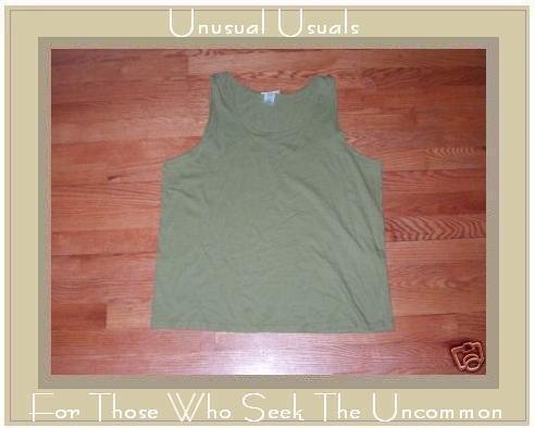 NEW FLAX Green Tank Shirt Top Cotton Jeanne Engelhart LARGE L