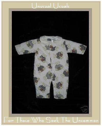 MAYFAIR KIDS Alphabet Bear BABY ROMPER 3-6 Months EUC