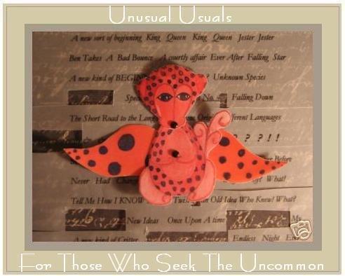 Unusual MONKEY Folk ART TOY Doll Paper PUPPET aceo atc