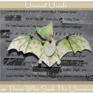 Adorable BAT Folk Art Toy Doll Paper PUPPET aceo atc