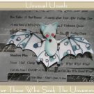 Adorable Bat Folk Art Toy Doll Paper Puppet ACEO ATC