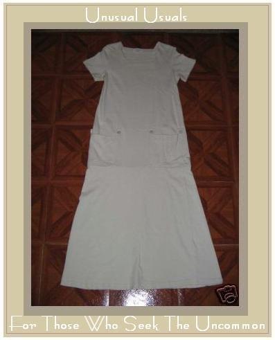 CLOTHESPIN Cream Cotton Twenties Theme Dress MEDIUM M