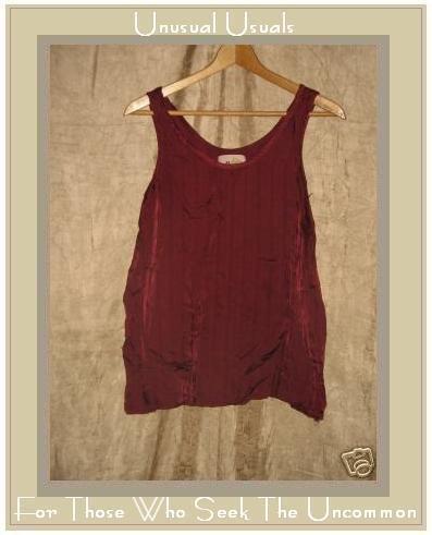 FLAX by Jeanne Engelhart Slinky Berry Rayon Shirt Top MEDIUM M