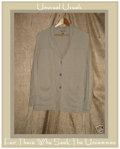 Chico's Design Linen & Rayon Button Jacket Size 0 XS S