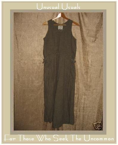 FLAX by Jeanne Engelhart Long Adjustable Jumpette Dress SMALL S