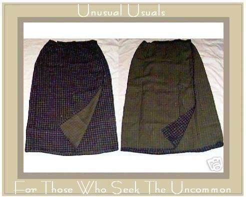 NWT FLAX REVERSIBLE LINEN WRAP SKIRT ENGELHART MEDIUM