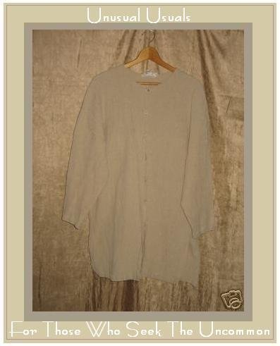 Junko Sagawa Long Pleated Button Tunic Top Shirt MEDIUM M