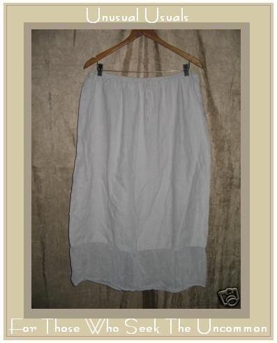 J. JILL Lavender LINEN Drawstring Skirt XLP X-Large PETITE