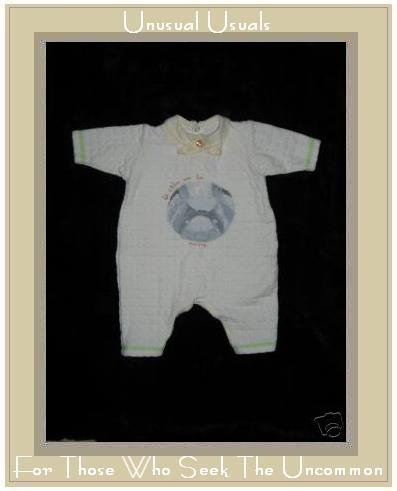 Sucre D' Orge French Boutique Baby Bear Romper 3 Months