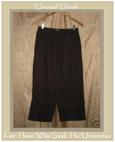 Chico's Design BROWN LINEN Flood PANTS Size 1 SMALL S M