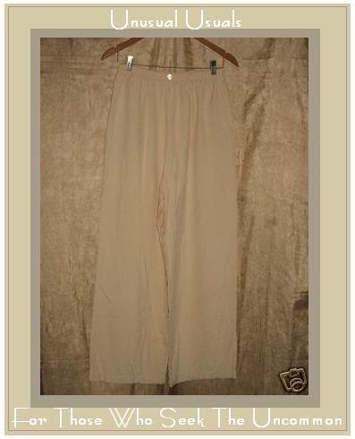 HALSTON Creamy Pink Silk Flood Pants Size 10 MEDIUM M