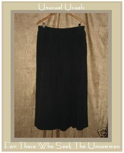 APRIL CORNELL Long & Full Black Silk Skirt MEDIUM M