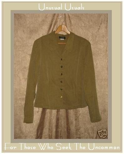 KINDRED SPIRIT Textured Tencel Jacket Shirt Top MEDIUM M