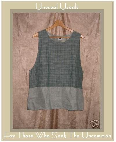 Jackie Loves John LINEN Nothing Matches Tank Shirt Top SMALL S