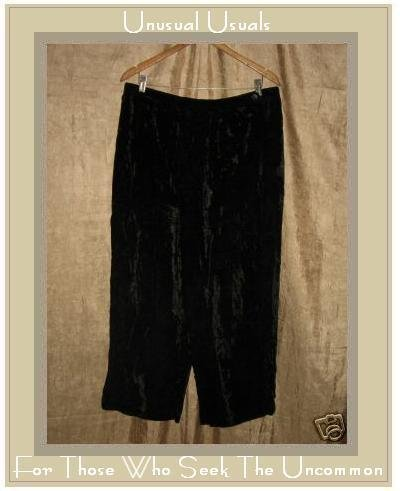 J. Jill Loose & Flowing Black Rayon Velvet Pants 4X