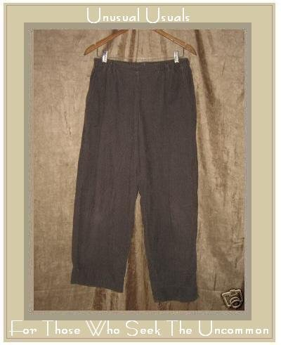 FLAX by Jeanne Engelhart Brown Cotton Corduroy Pants MEDIUM M