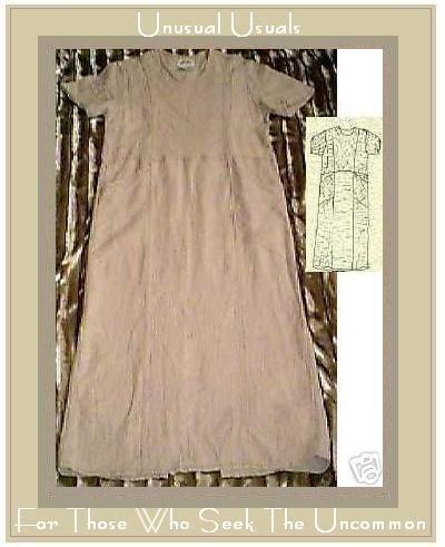 FLAX DE SOLEIL MIGHTY COPYRIGHT ANGLE DRESS ENGELHART PETITE P