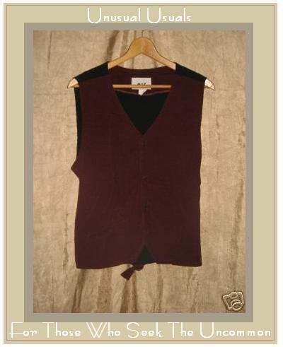 FLAX by Jeanne Engelhart Berry Cotton Corduroy Vest MEDIUM M