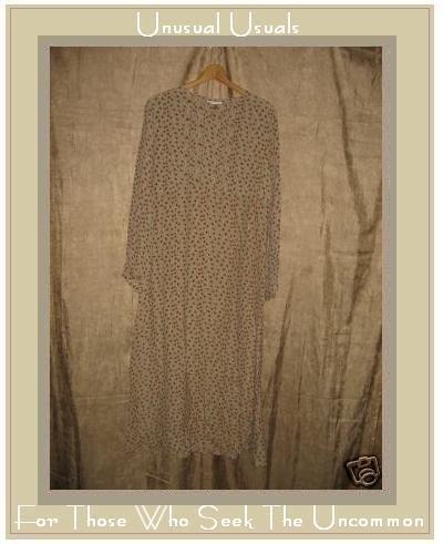 Karavan Long Floral Rayon Empire Waist Dress Medium M S