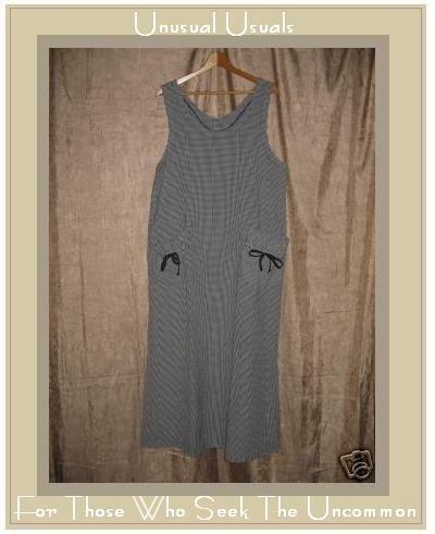 TOM TOM Long Boutique Black & White Gingham Dress LARGE L