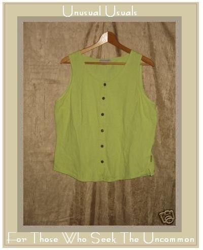 Royal Robbin Sleeveless Button Shirt Top X-Large XL