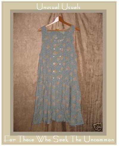 April Cornell Double Button Drop Waist Dress Small S
