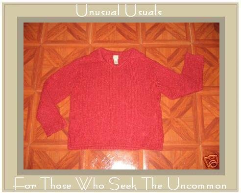 J. JILL NUBBLY RED HANDKNIT PULLOVER SWEATER TOP SMALL S