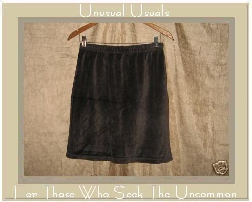 TWEEDS Short & Sweet Earthy Brown Velour Skirt Medium M