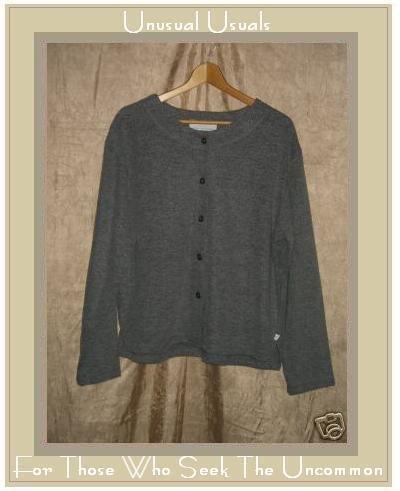 KN KAREN NEUBURGER Softest Gray Button Shirt Top Large