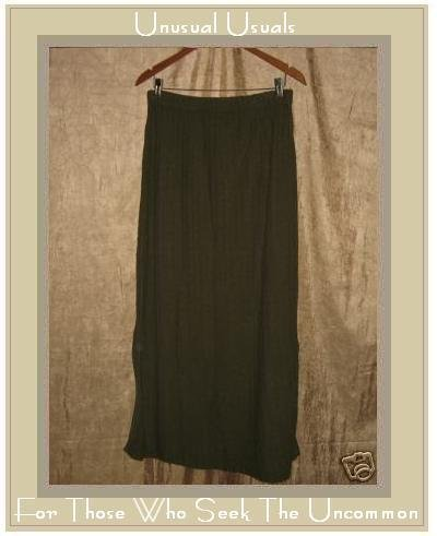 Stephanie Schuster for Princess Knitwear Green Skirt LARGE L