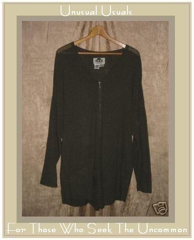 FLAX by Angelheart Cardigan Sweater Jeanne Engelhart MEDIUM LARGE M L