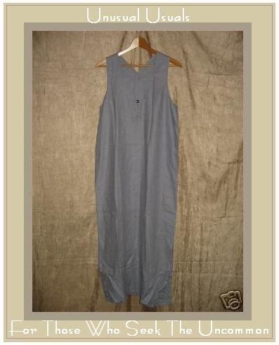 J. Jill Long Lavender LINEN Jumper Jump Dress Medium M