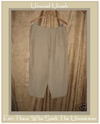 New Chico's Design Linen Silk Barbados Crop Pants Size 2