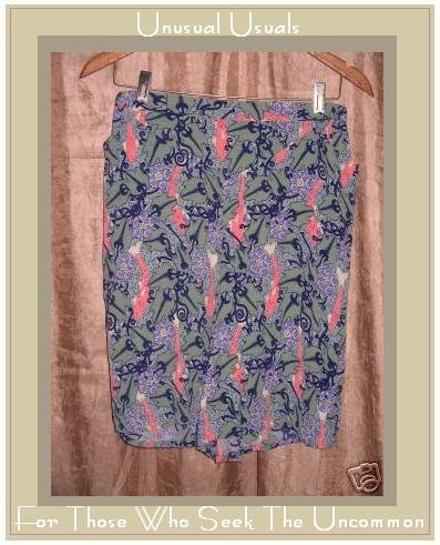 FLAX by JEANNE ENGELHART Funky RAYON Shorts SMALL S