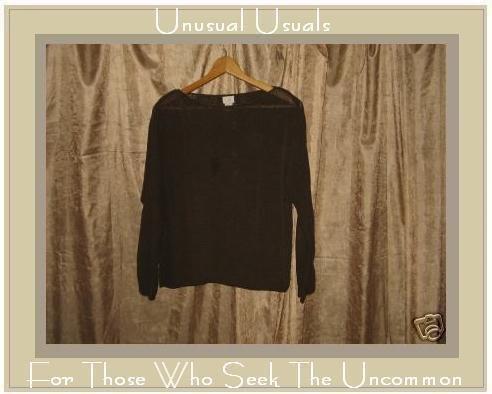 J. JILL Brown Silk Pullover Sweater Shirt Top Medium MP