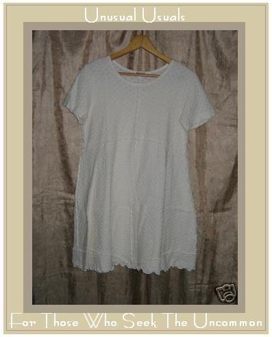 CLOTHESPIN Cream Cotton Pullover Shirt Tunic Top Small S