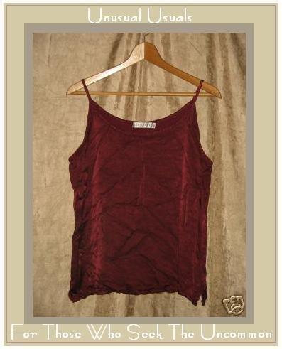 CUT LOOSE Slinky Berry Rayon Tank Shirt Top Large L