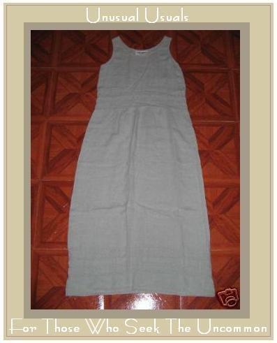 CUTE ALYWEAR TEXTURED LINEN DRESS ALY WEAR SIZE SMALL S