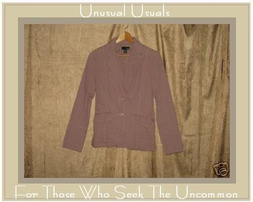 H&M H & M Shapely Lavender Button Jacket EUR 36 US 6 S