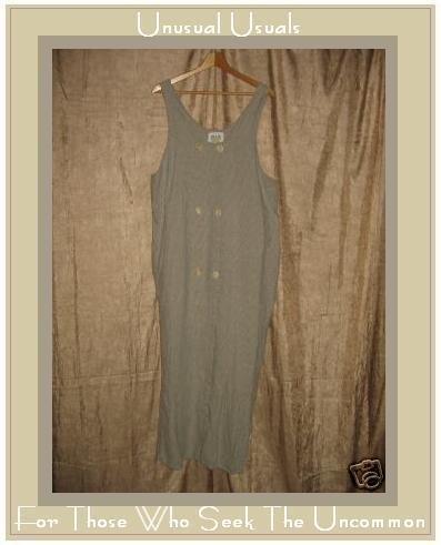 FLAX by ANGELHEART Jeanne Engelhart LINEN Jump Dress LARGE L