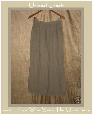 CP SHADES Long Full Lavender Gray LINEN Skirt Medium M