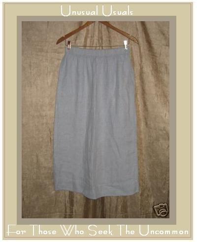 Bryn Walker Boutique Long Lavender Linen Skirt Medium M