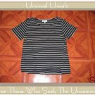FRONT PORCH STRIPED KNIT PULLOVER SHIRT TOP SMALL S