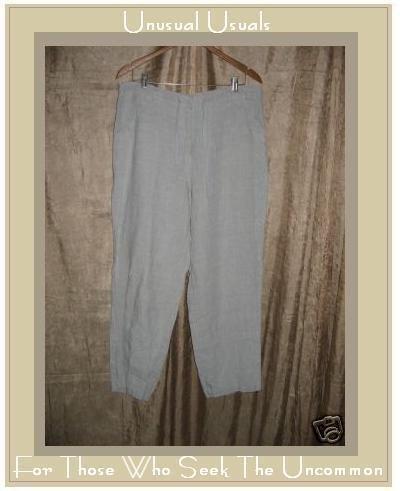 Crossroads Natural Linen Drawstring Pants Size Medium M