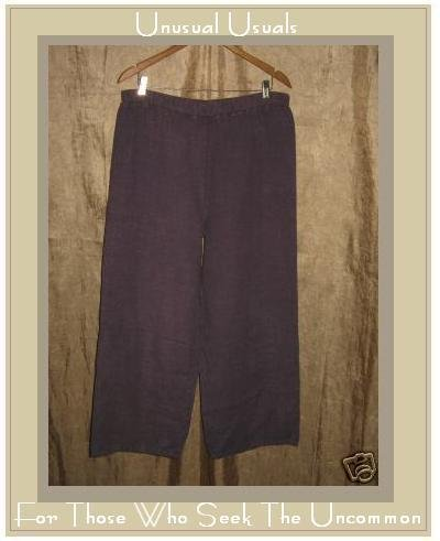 ALYWEAR Aly Wear Boutique Purple LINEN Flood Pants MEDIUM M