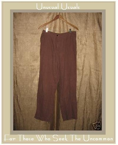 J. JILL Soft Berry Linen Drawstring Pants Size 10 S / M
