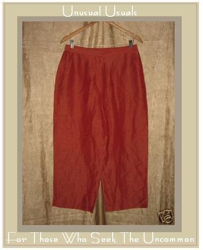 EILEEN FISHER Red Linen & Silk Slacks Pants Medium M