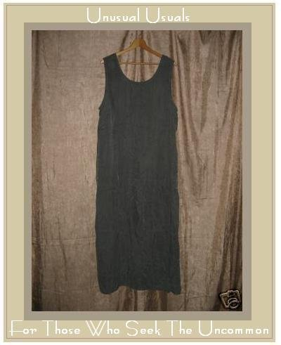 COLDWATER CREEK Long Soft Gray Silky Rayon Dress 1X