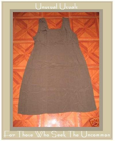 FLAX GRAY HEAVY RAYON DRESS BY JEANNE ENGELHART SMALL S