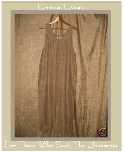FLAX by Jeanne Engelhart Long Earthy LINEN Jump Dress PETITE P